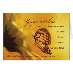 Death anniversary cards greeting photo cards zazzle anniversary death of loved one butterfly card m4hsunfo
