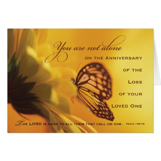Quotes For A Loss Of A Loved One: Anniversary Death Of Loved One Butterfly Card