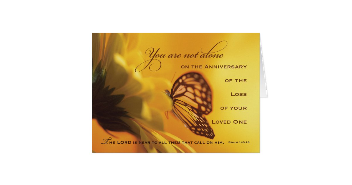 Anniversary Death Of Loved One Butterfly Card Zazzle Com