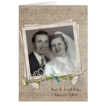 Wedding Themed Anniversary dinner invitation with photo frame