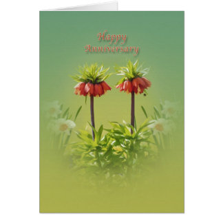 Anniversary, For Couple, Red Rubra Tulips Card