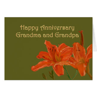 Anniversary for Grandma and Grandpa Card