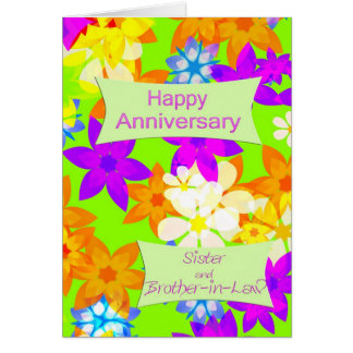 Anniversary for sister and brother-in-law card