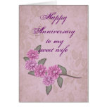 Anniversary for wife Card