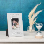 """Anniversary gift 25 years with names and photo plaque<br><div class=""""desc"""">Personalize this Silver Wedding Anniversary plaque with a photo of the happy couple celebrating 25 years of marriage. Add their names and the date.  ** Sample photo &#169; Lynnrosedesigns **</div>"""