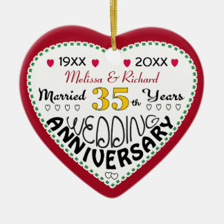 Anniversary Gifts 35th-Christmas Ornaments