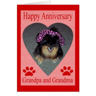 anniversary grandparents greeting card