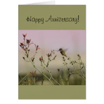 Anniversary Greeting Card with Hummingbird Design