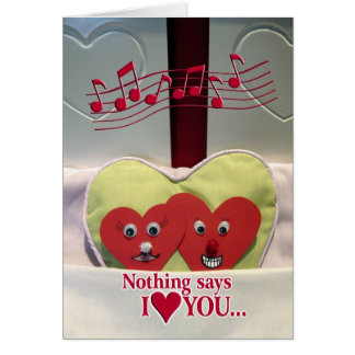 Anniversary Humor - Two Hearts in Bed Card