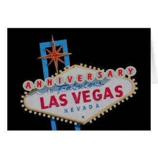 ANNIVERSARY In Fabulous Las Vegas Card