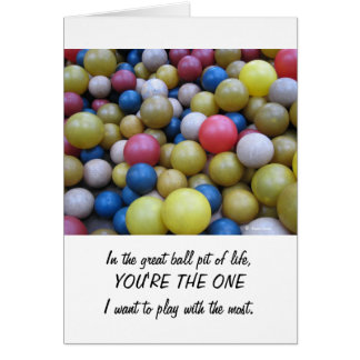 Anniversary-In the Fun Ball Pit Card