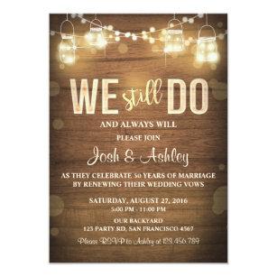 50th Wedding Anniversary Invitations Zazzle