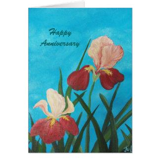 Anniversary iris card