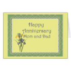 Anniversary Iris for Mom and Dad Card