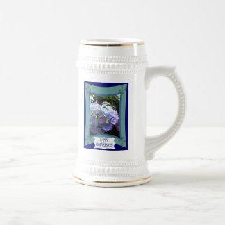 Anniversary, Lilac and pink Coffee Mugs