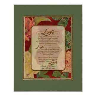 Anniversary, Love Chapter 1 Corinthians 13 Poster