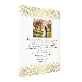 Anniversary, Love Chapter 1 Corinthians 13 w Photo Gallery Wrap Canvas