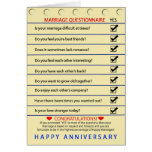 ANNIVERSARY - MARRIAGE QUESTIONNAIRE - GREETING CARD