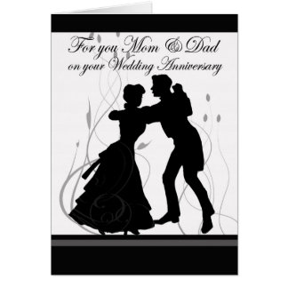 Anniversary Mom & Dad Dancing Couple Card