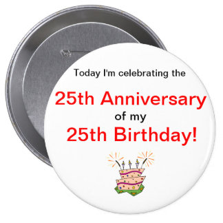Anniversary of Birth Pinback Button