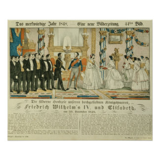Anniversary of Frederick William IV and his Poster