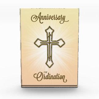 Anniversary of Ordination, Cross on Starburst Acrylic Award