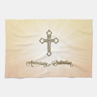 Anniversary of Ordination,  Cross on Starburst Towels