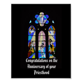 Anniversary of Priest Ordination personalized gift Poster