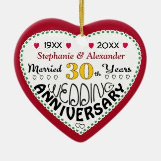 Anniversary Ornaments 30th-Christmas