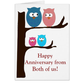 Anniversary Owls Cards