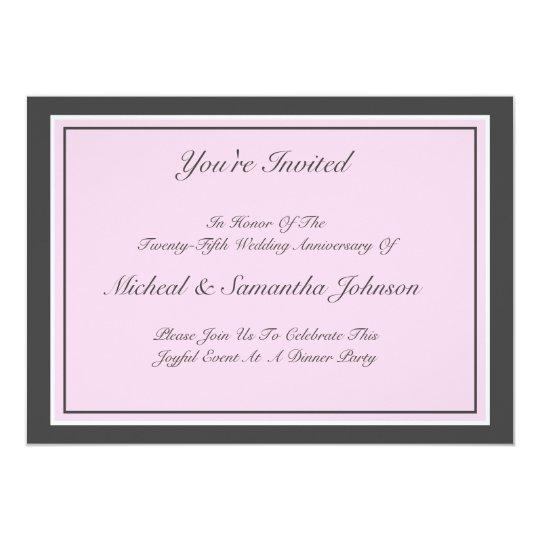 Anniversary Party Classic Invitation Blush Pink
