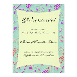 Anniversary Party Festive Confetti Invitation