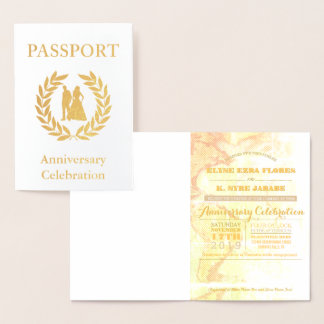 Anniversary Party Gold Passport Foil Card