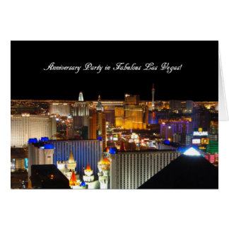 Anniversary Party in Fabulous Las Vegas Card