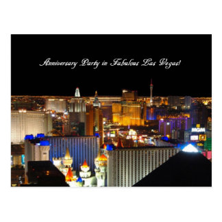 Anniversary Party in Fabulous Las Vegas Postcard