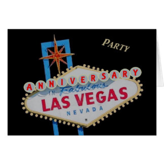 ANNIVERSARY Party In Las Vegas Card