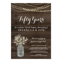 10th wedding anniversary invitations zazzle anniversary party invitation rustic babys breath stopboris Image collections