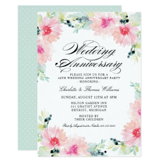 Anniversary Party Invitations | Daisy Watercolor