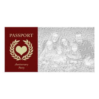 anniversary party passport card