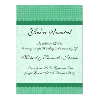 Anniversary Party Peapod Green Country Charm Invit Card