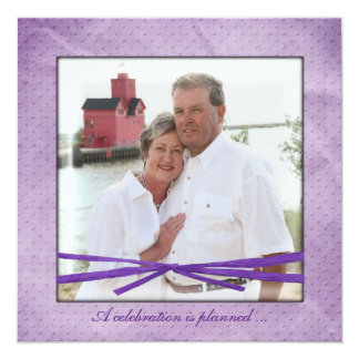 Anniversary party photo frame card