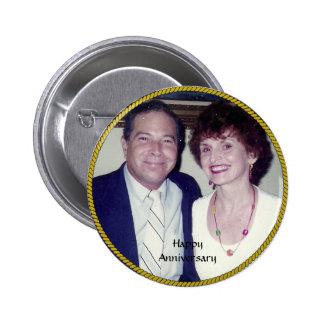 Anniversary Photo Template Pinback Button