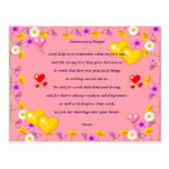 anniversary prayer post card
