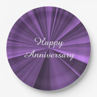 Anniversary Purple Paper Plates by Janz 9 inch
