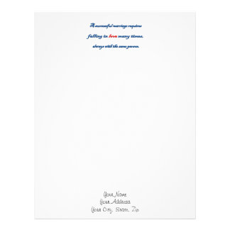 Anniversary Quote - A successful marriage requir … Letterhead