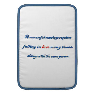 Anniversary Quote - A successful marriage requir … MacBook Air Sleeves