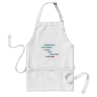 Anniversary Quote - Anniversary: A time to cele … Adult Apron