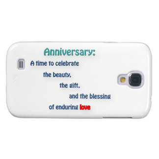 Anniversary Quote - Anniversary: A time to cele … Galaxy S4 Cover