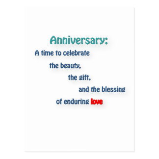 Anniversary Quote - Anniversary: A time to cele … Postcard