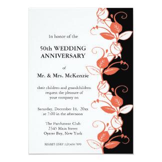 Anniversary Roses (Coral) Card